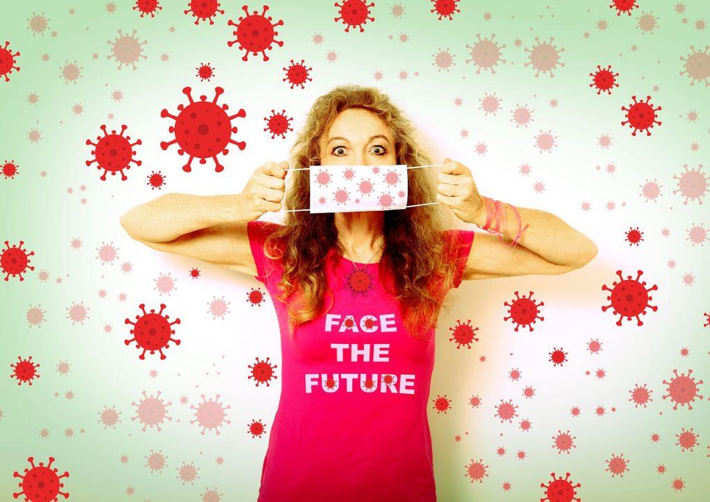 corona, face the future, mouth guard