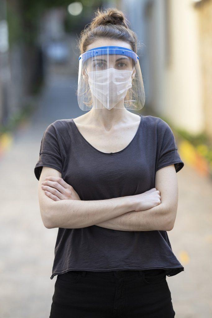 coronavirus, mask, woman